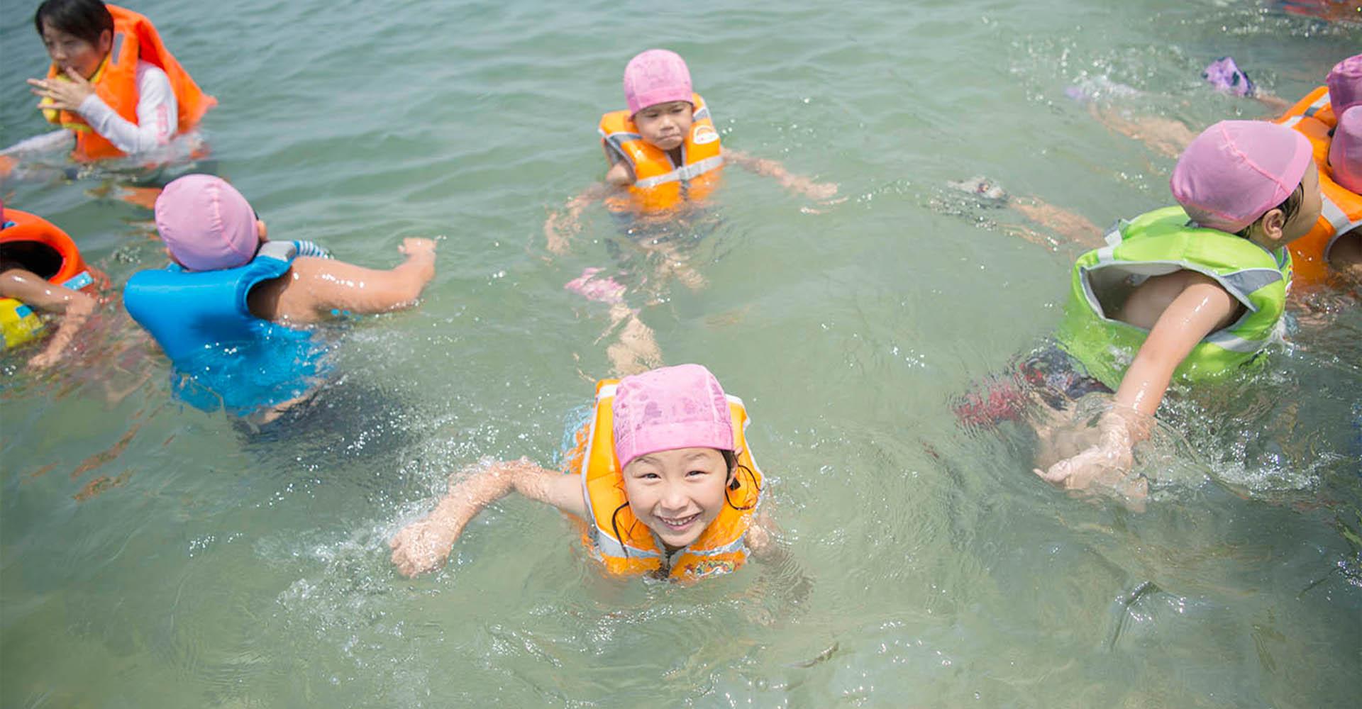 大矢野の海-お泊り保育